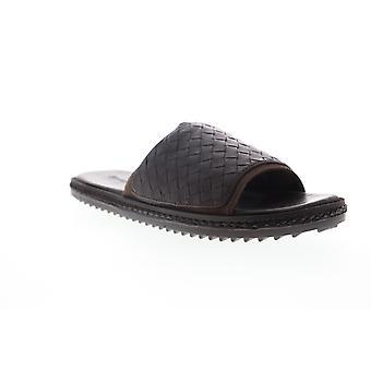 Tommy Bahama Korte Crest Slide Mens Brown Lederen Dia Sandals Schoenen