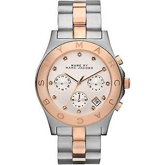 Marc Jacobs MBM3178 Chronograph Silver Dial Two-tone Ladies Watch