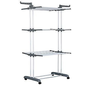 Herzberg HG-8034GRY: Moving Clothes Rack - Grijs