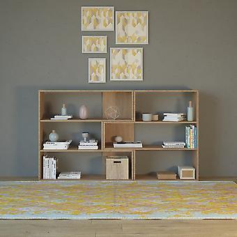 Libreria Twinny Color Legno Naturale in Truciolare Melaminico 158x30x90 cm