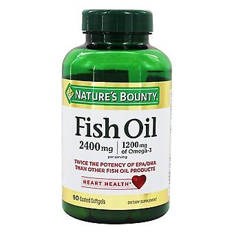 Nature's bounty fish oil, 2400 mg, dietary supplement softgels, 90 ea