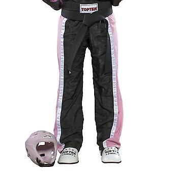 Top Ten Kids Mesh Kickboxing Pants Noir/Rose