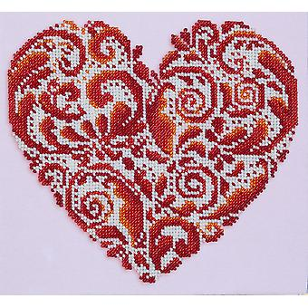 VDV Bead Embroidery Kit - Heartshaped Lace