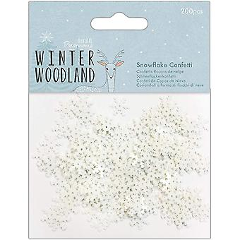 Papermania Winter Wonderland – Snowflake Confetti, 200pcs