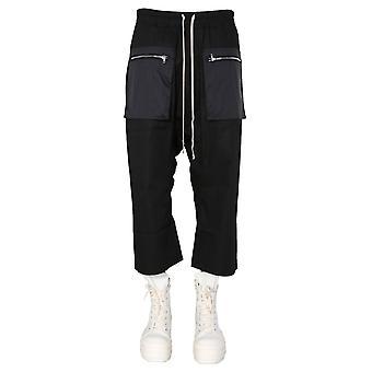Rick Owens Drkshdw Du20s5375crnd09 Men's Black Cotton Pants
