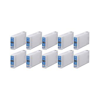 RudyTwos 10x Replacement for Epson 79XL(TowerofPisa) Ink Unit Cyan Compatible with WorkForce Pro WF-4630DWF, WF-4640DTWF, WF-5110DW, WF-5190DW, WF-5620DWF, WF-5690DWF