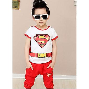 Unisex Superman Short-Sleeved Outfit