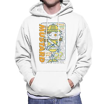 Hasbro Cluedo It Was Me Colonel Mustard Men-apos;s Hooded Sweatshirt
