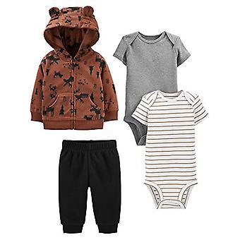 Simple Joys by Carter's Boys' 4-Piece Fleece Jacket, Pant, and Bodysuit Set, ...