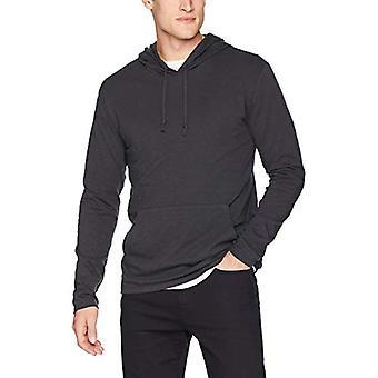 Goodthreads Men's Leichtes Slub T-Shirt Hoodie, Kaviar/Schwarz, Medium
