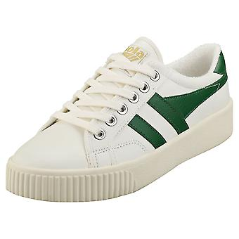 Gola Baslinje Mark Cox Womens Mode Utbildare i Off White Green