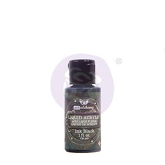Finnabair Art Alchemy Liquid Acrylic Paint Black