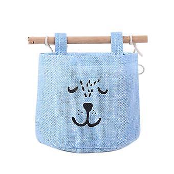 Single Pocke Hanging Storage Bag Blue