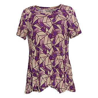 LOGO door Lori Goldstein Women's Top Printed Top Purple A373636