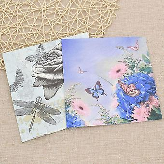 20ps/bag Butterfly Paper Towel  Napkin Tissue - Cartoon Printing Paper Handkerchiefs