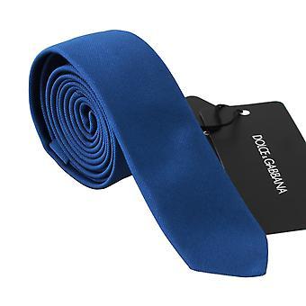 Dolce & Gabbana Blue 100% Silk Wide Classic Necktie -- KRA7832304