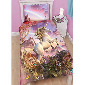 Wild Star - genial Einhorn - Bettdecke Set für Einzelbett