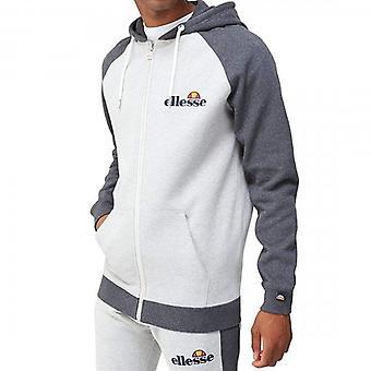 Ellesse Wilder Raglan Zip Up Hoody Sweatshirt Grey Marl
