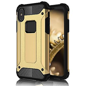 Shell pour Apple iPhone X Gold Hard Armor Protection Case