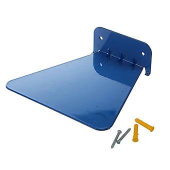 Roestvrij staal onzichtbare drijvende opslag boekenplank Blauw