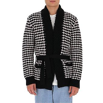 Laneus Cdu554cc11var1 Men's Wit/zwart Wol Vest