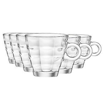 Bormioli Rocco Cube Espresso Kaffeegläser Set - 100ml - Packung mit 12