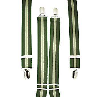Ties Planeta Sombras de Hombres de Rayas Verdes's Pantalón Braces