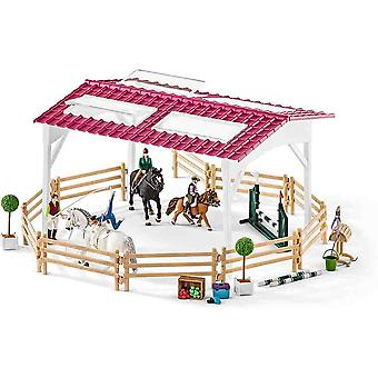 Schleich riding school with riders and horses play set for children over 3 years