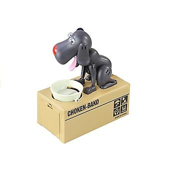 Dogs piggy bank - electric coin custodian - Black