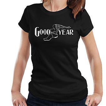 Goodyear svartvit logo Kvinnor's T-shirt