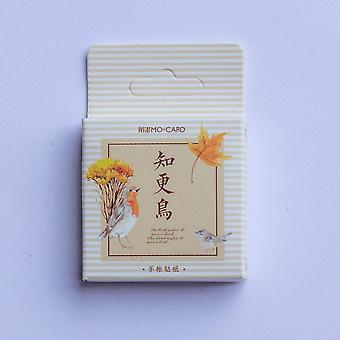 Mini Boxed Bird Memo klistermærker - Craft klistermærker x 40