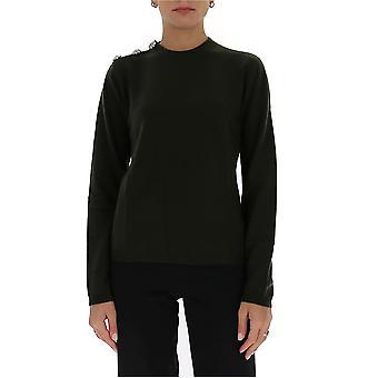 Ganni K1414861 Women's Green Cashmere Sweater