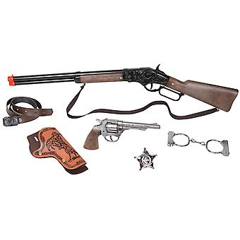 CAP GUN - 498/0 - Gonher Wild-West Set Revolver & Rifle 8 Shots