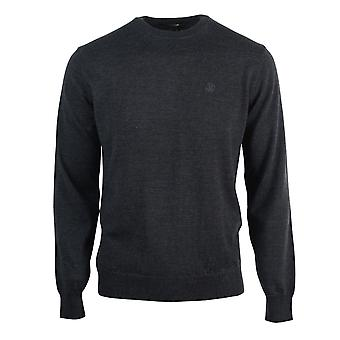 Roberto Cavalli Brand Crest Knitted Dark Grey Sweater