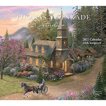 Thomas Kinkade Studios 2021 Deluxe -seinäkalenteri ja Kinkade & Thomasin raamattu