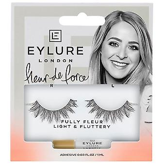 Eylure X Fleur de Force Strip Lashes - Fully Fleur - Tapered Length with Glue
