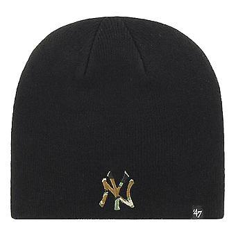 47 Brand New York Yankees Camfill Beanie - Black