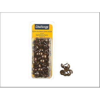 Shaw Challenge Upholstery Nails Brass 10mm Clam Packed 40271