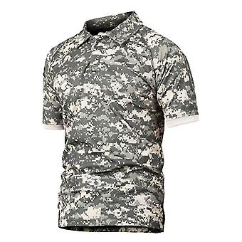 "Men""s Quick Dry Camo Tactical T Shirt, Outdoor Climbing Army Training Short"