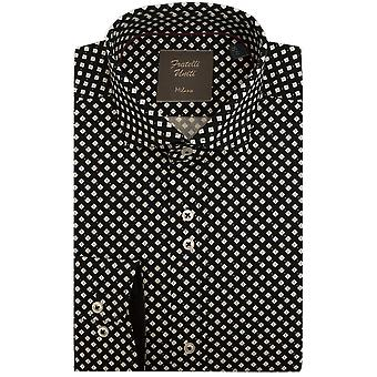 Fratelli Uniti Diamond Shape Pattern Pure Cotton Mens Shirt