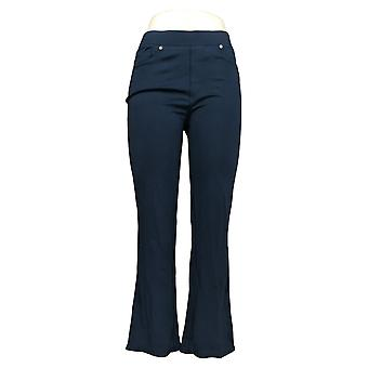 DG2 door Diane Gilman Women's Petite Pants Blue Back Pockets Rayon 732-054