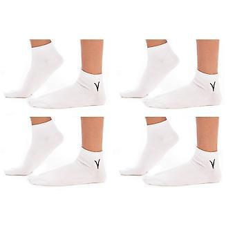 4 páry bílý kotník Flip-flop Tabi Velké ponožky