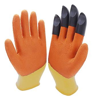 Homemiyn Paw Gloves Gardening Single Claw Rubber Gloves Waterproof