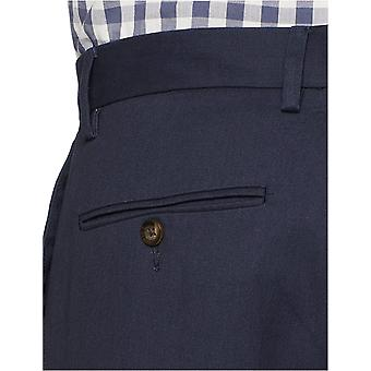Essentials Heren Classic-Fit Wrinkle-Resistant Flat-Front Chino Pant, Navy, 31W x 32L