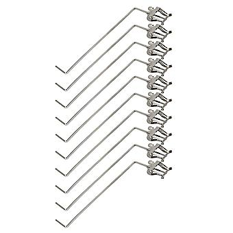 10 x Silver Baritone Marching Lyre 3/4 Vertical Keys Music Sheet Clips