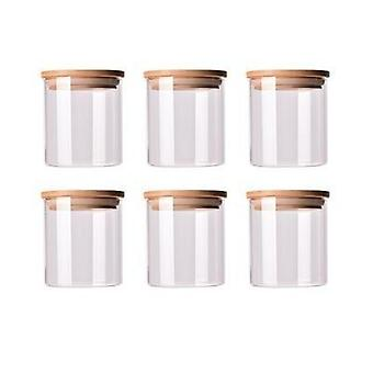 Air Tight Mason Glass Jars With Bamboo Lid
