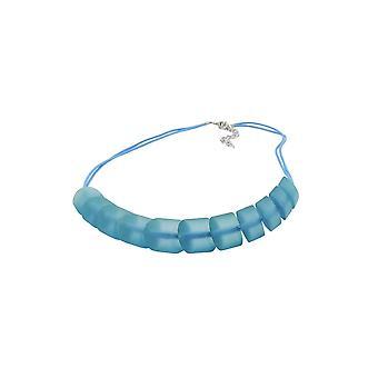 Collana perline inclinate turchese cavo turchese