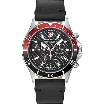 SWISS MILITARY HANOWA - Montre homme - FLAGSHIP RACER CHRONO - 06-4337.04.007.36