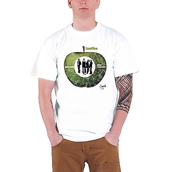 البيتلز تي شيرت معا شعار الفرقة الرسمية الرجال الأبيض الجديد
