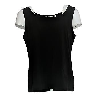 Linea Door Louis Dell'Olio Women's Top Knit Tank Black A304658